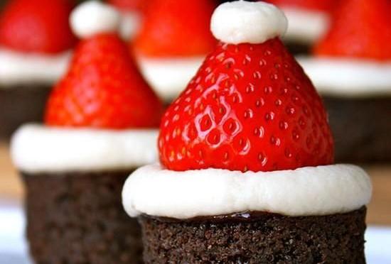 Navidad , galletas fresas -